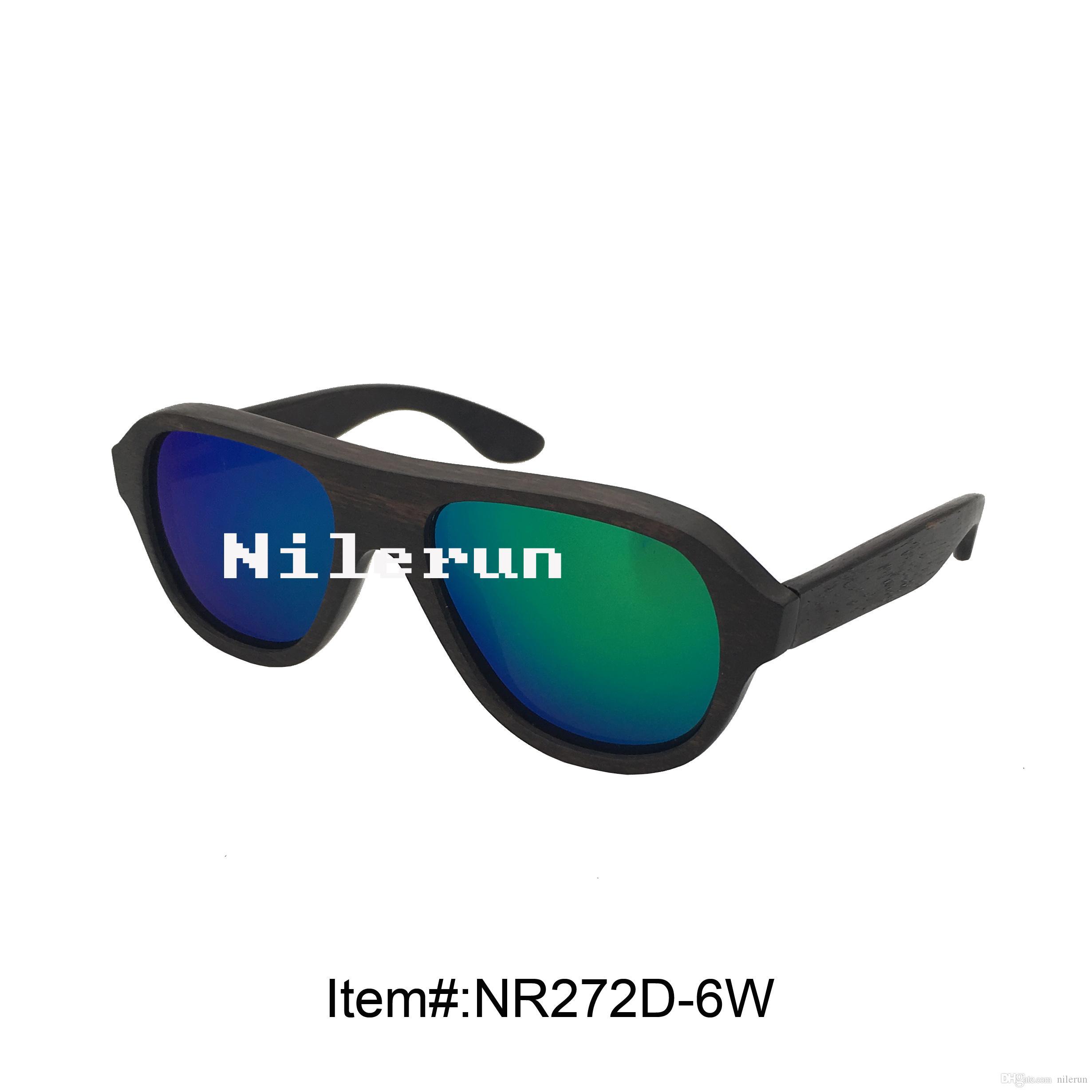06515a0f1cb Fashion Unisex Green Lenses Ebony Wood Sunglasses Sport Sunglasses  Prescription Sunglasses Online From Nilerun