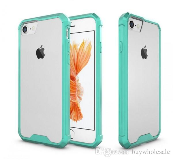 Luxury Soft TPU Bumper + Clear Hybrid Back Cover Case For Iphone 6s 7 7plus 8 samsung s8 hot style factory outlet