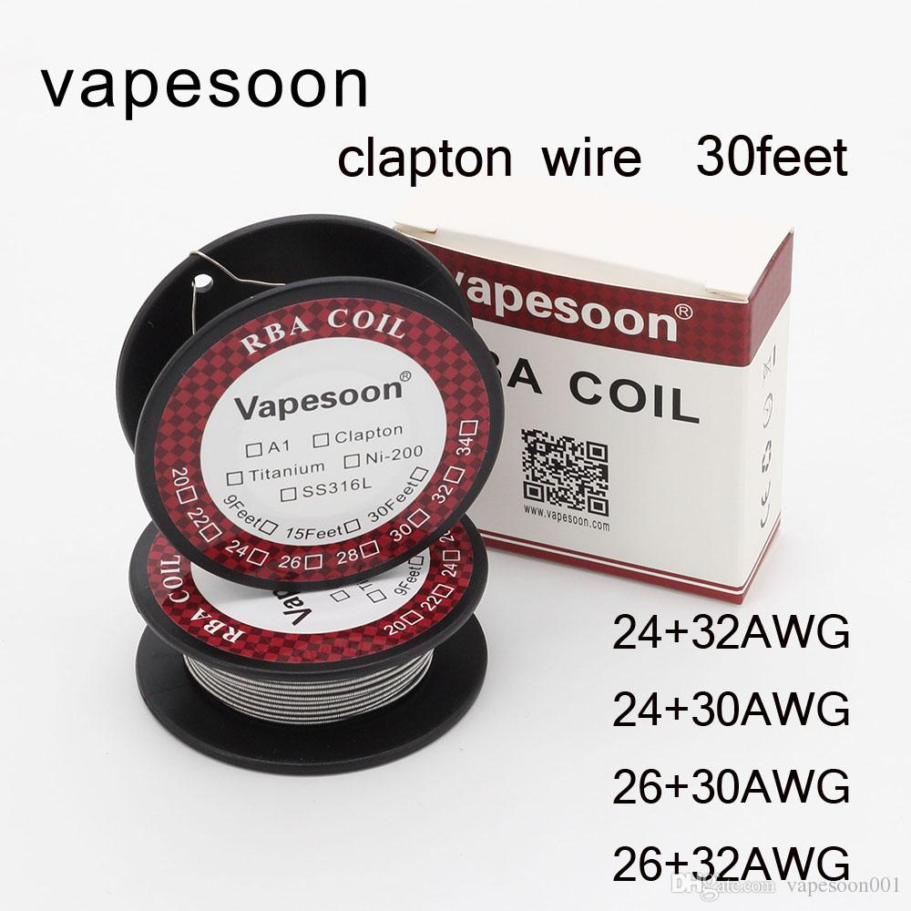Original Vapesoon Clapton Wire Heating Wire For E Cigs Rda Atomizer ...