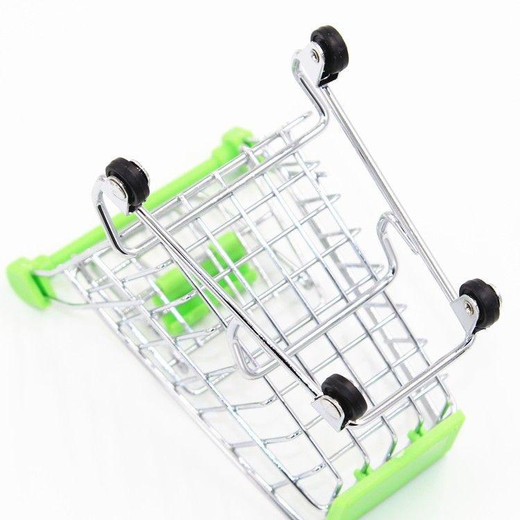 60 adet / grup Sıcak Moda Mini Süpermarket El Arabaları Mini Alışveriş Sepeti Masaüstü Dekorasyon Depolama Telefon Tutucu Bebek Oyuncak Yeni