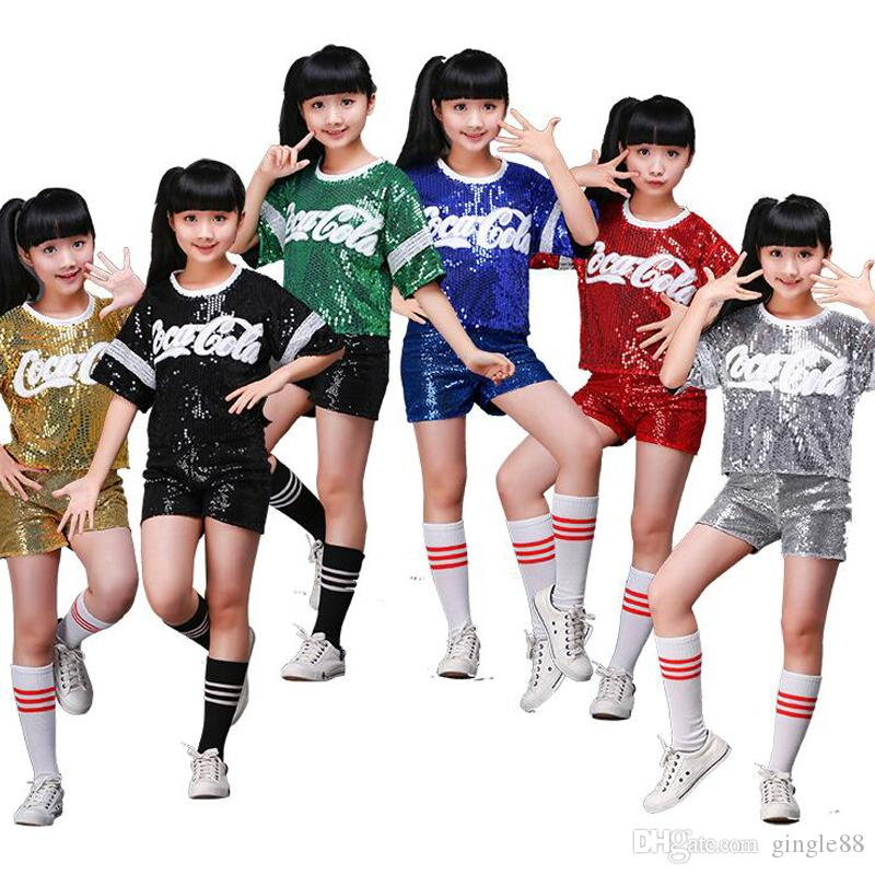 2751a4c3b780 Kids Jazz Party Stage Dance Show Costumes New Girls Performance Jazz ...