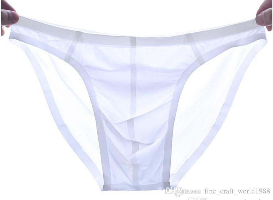NEW Wholesale-Seamless Ice Silk Breathable Men Briefs Super Smooth Drying-Fast Male Underwear Suiting Special For Business Men