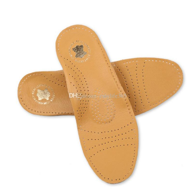 018e5f0ec1 New Style Leather Arch Support Insole For Flat Feet Orthotic Insole Flat  Foot Correct Feet Care Orthopedic Insert Shoe Pad Canada 2019 From  Easylife365, ...