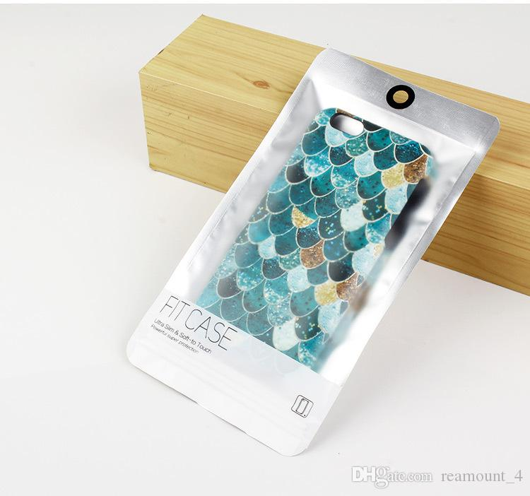Wholesale Shining Fish Scale Case For iPhone 6 6s 6 Plus Plastic Hard PC Mobile Phone Shell with Retail Package