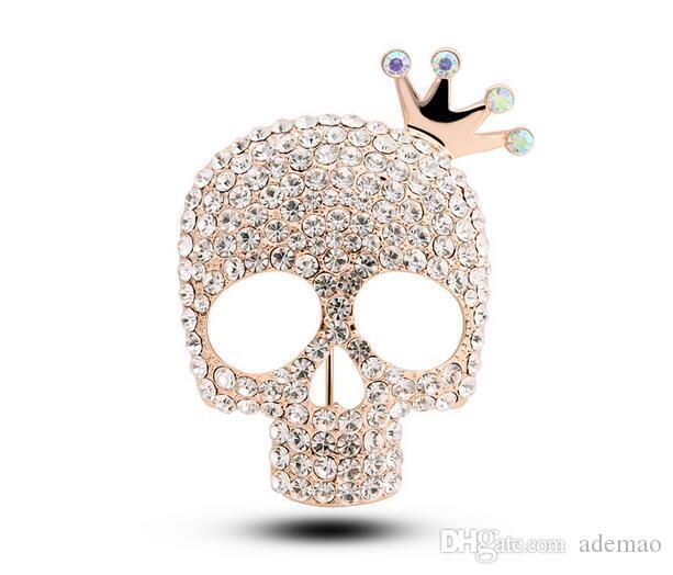 Im Jahr 2017 die neue hochwertige Brosche kreative Persönlichkeit Skelett Krone Mode Männer Anzüge Ornamente