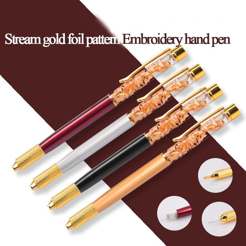 4pcs newest design caneta tebori semi permanent make up manual eyebrow tattoo  pen microblading tool for