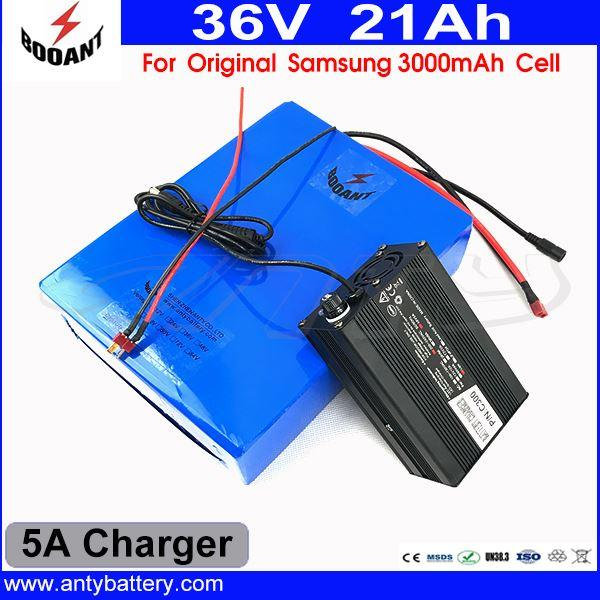 1000W Bicycle Battery 36V 21AH For Bafang BBS Motor With 5A Charger Scooter Lithium Battery 36V For Original Samsung 18650 Cell