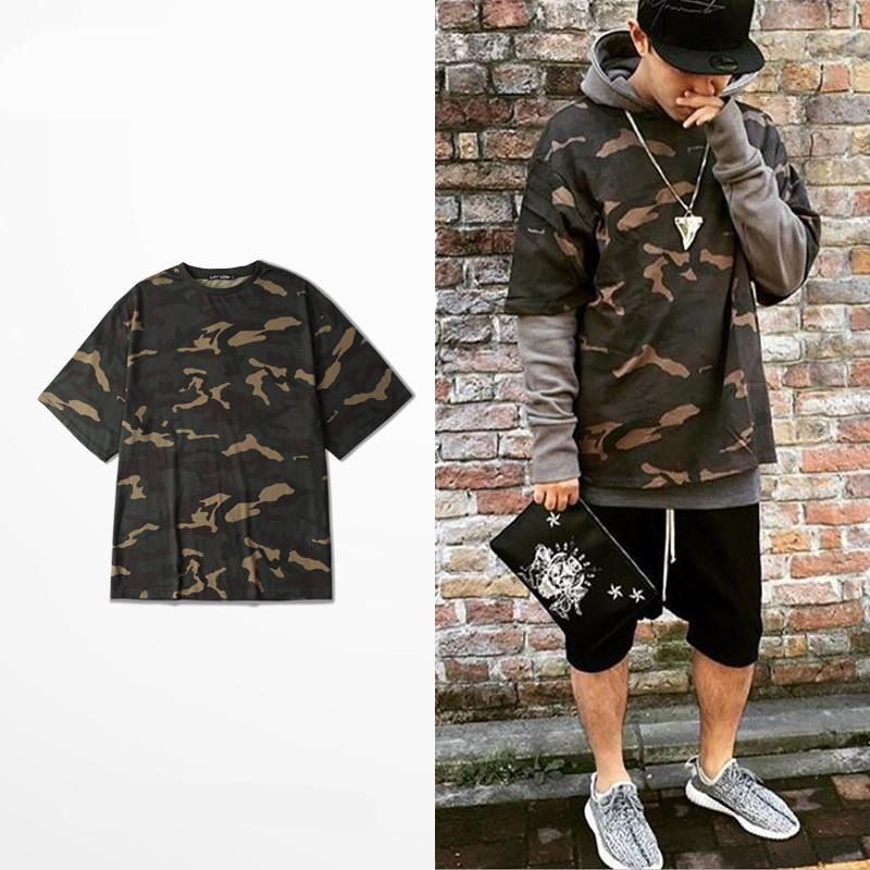 2017 Camo Tee Hip Hop Fashion Mens T Shirt Military ...