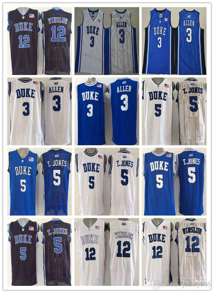 48ef076505e ... Duke Blue Devils College Basketball Jerseys Cheap 3 Grayson Allen 5  Tyus Jones 12 Justise Winslow ...