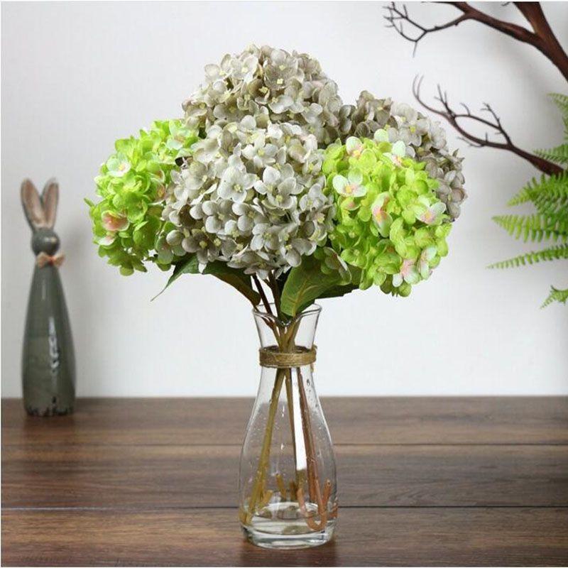 Party Supplies Artificial Hydrangea Flower 42cm Fake Silk Single Hydrangeas for Wedding Centerpieces Home Party Flowers