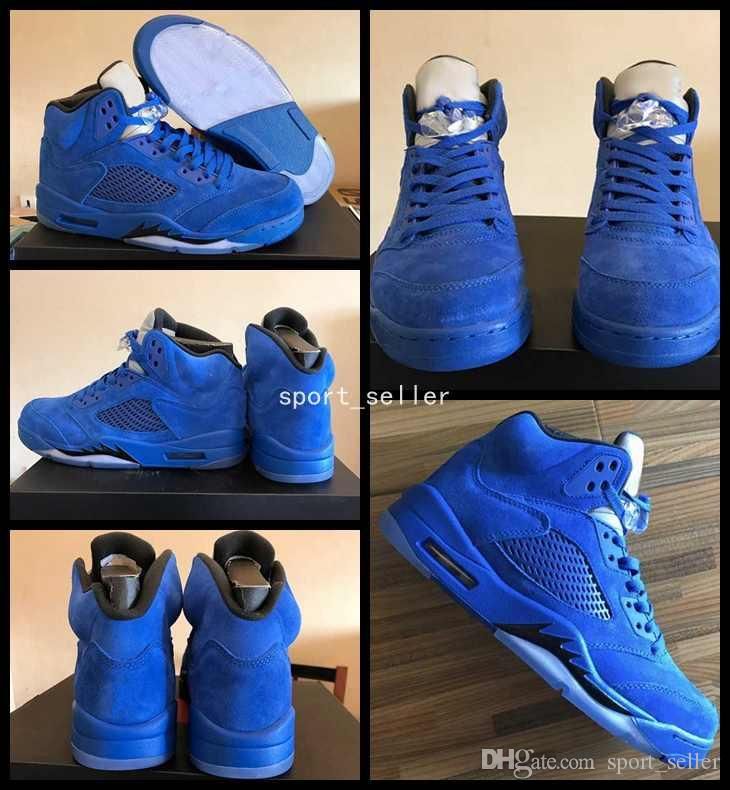 3136f3b56730 air jordans 5 blue suede nz trainers