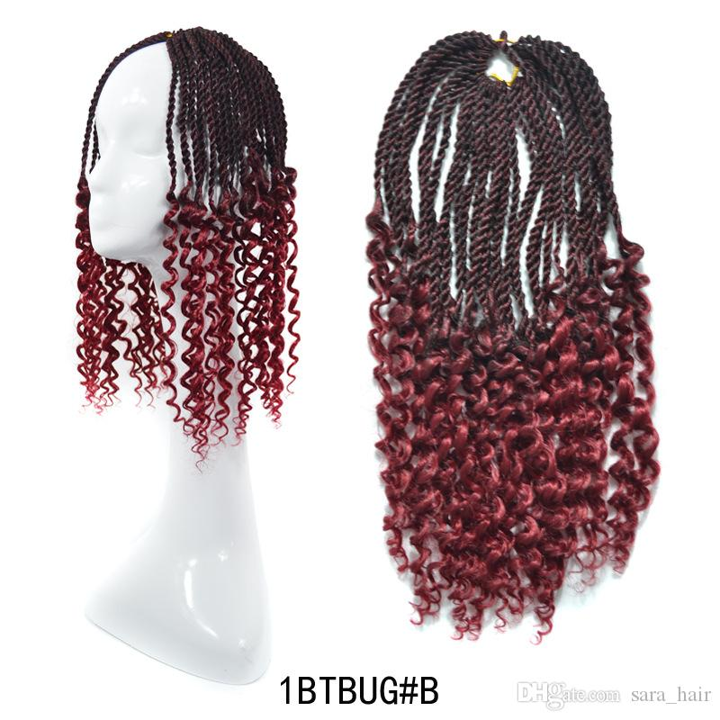새라 Afro Braiding Hair Extension 트위스트 Freetress Kinky 곱슬 머리 헤어핀 Kanekalon Hairpiece 45CM, 18