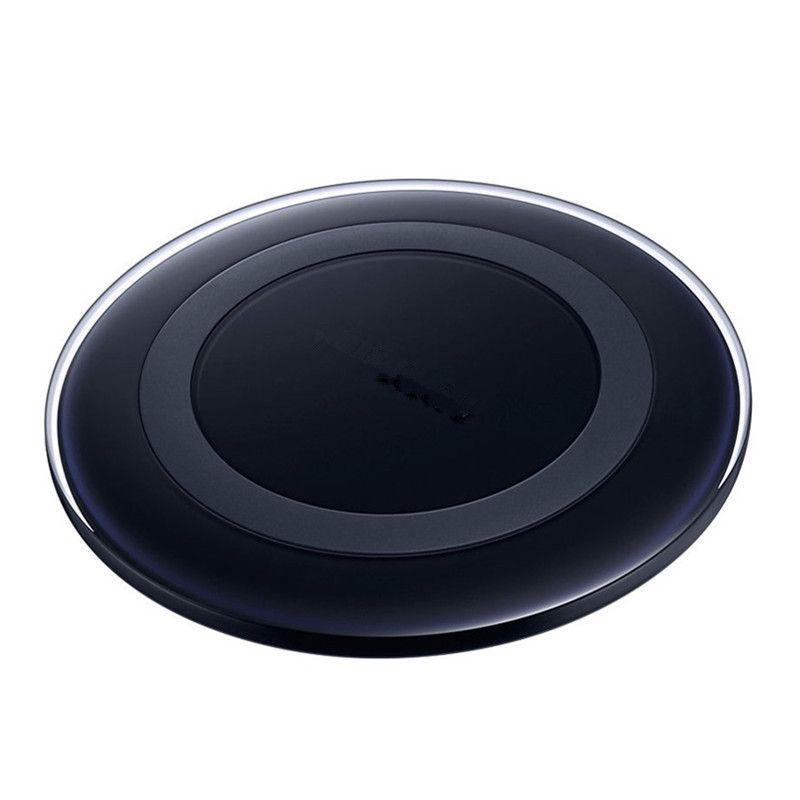 Tapis de recharge pour chargeur sans fil Qi Pour Samsung Note5 Galaxy S6 S7 Edge S8 plus pad mobile avec logo avec emballage de vente au détail
