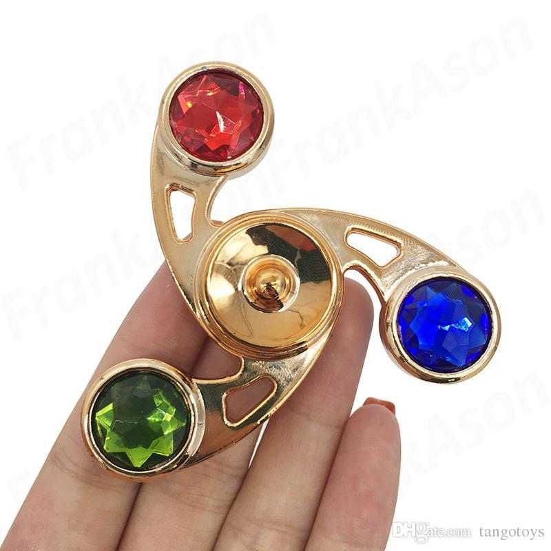 Colored Diamond Metal Spinner With Retail Box Zinc Aolly Fid