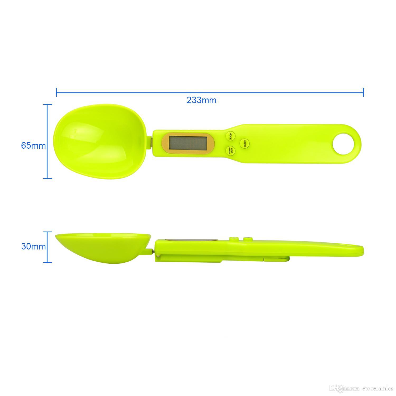 500g / 0.1g LCDデジタルスプーンキッチン食品測定グラムラボスケールバランスツール