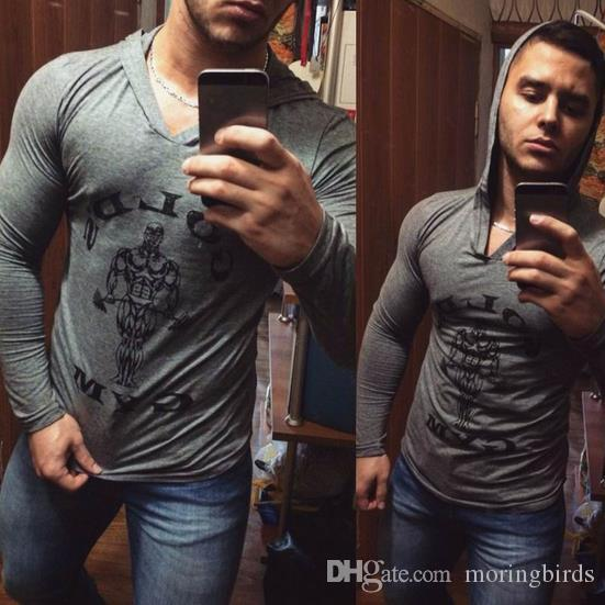 New Gym Muscle Bodybuilding Black Leather Fitness Lifting: 2019 Fitness Men Bodybuilding Sleeveless Muscle Hoodies