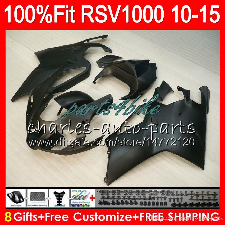 Injection For Aprilia RSV1000R 2010 2011 2012 2013 2014 2015 Matte black 77NO34 RSV1000 R Mille RSV 1000R RSV1000 10 11 12 13 14 15 Fairing