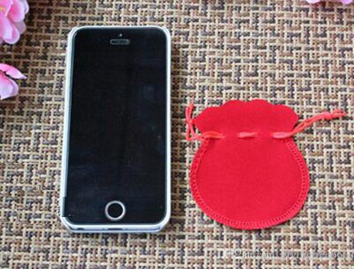 Epackfree 5 * 5cm Rosso velluto con coulisse regalo sacchetti di gioielli sacchetti di gioielli