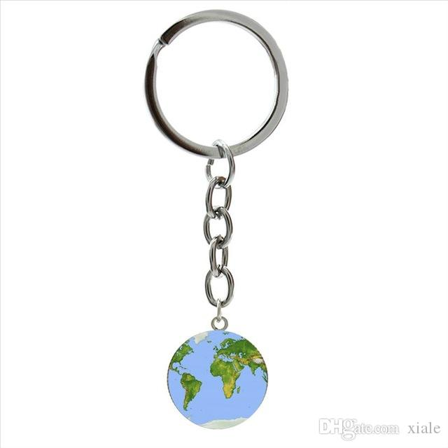 Charm colored South Africa Map keychain RSA south african flag decorate map art picture key chains exquisite handcrafted