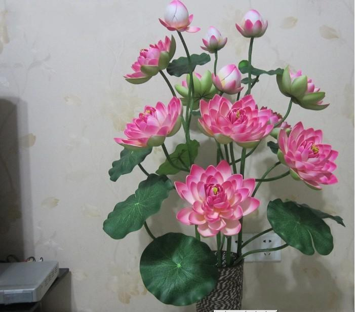 Best quality new eva waterproof artificial lotus flower beautiful best quality new eva waterproof artificial lotus flower beautiful artificial flowers holiday decorations home decor at cheap price online decorative mightylinksfo