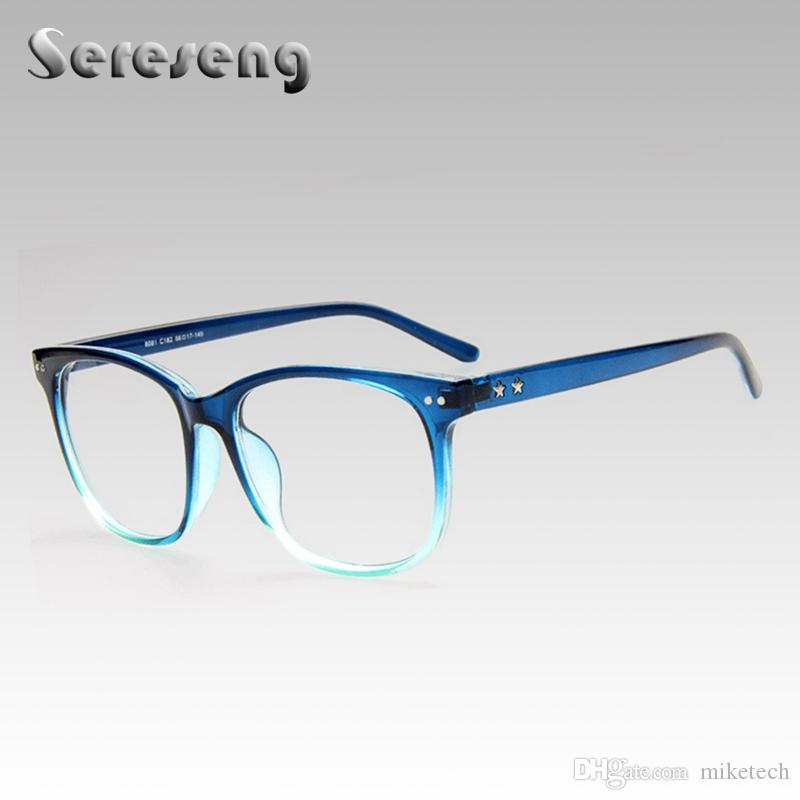 53eb85276c 2019 Retro Clear Lens Glasses For Women Fashion Optical Frames Unisex Eye  Wear Oval Frame Metal Eyeglasses G8081 From Miketech
