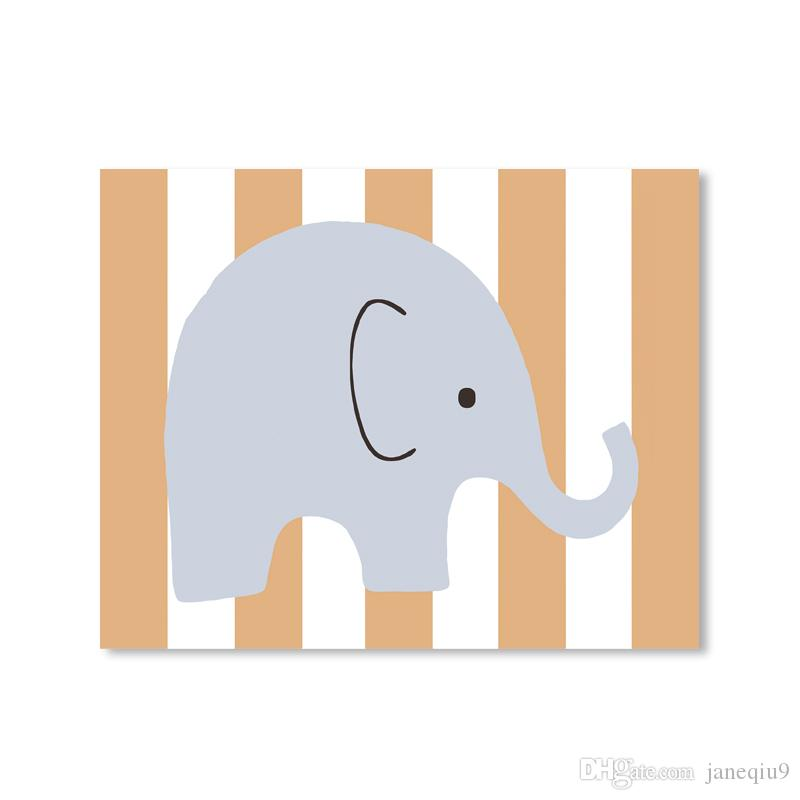 2018 artpioneer cute elephant print poster modern cartoon nursery