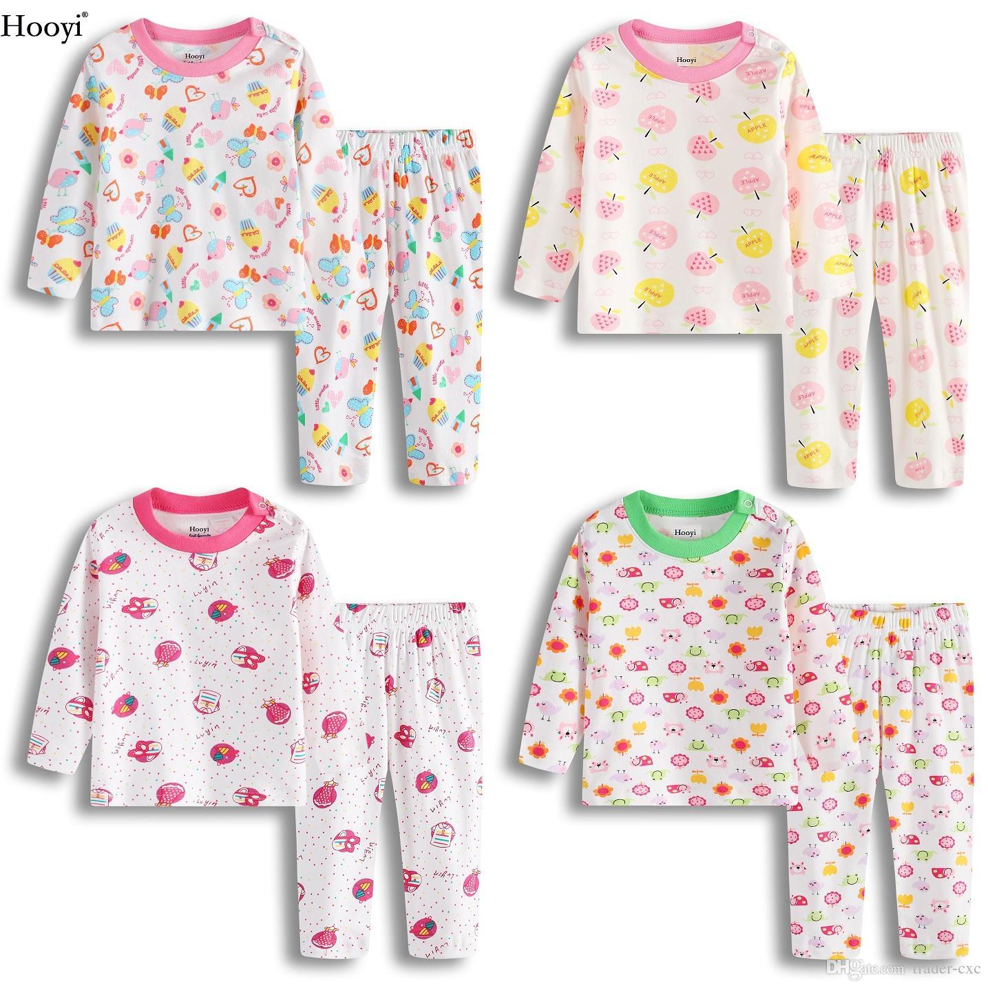 22b3a15de368f Acheter Mode Bébé Filles Pyjama Vêtements Costume Coton Doux Top Qualité  Enfants Vêtements De Nuit Coloré Bebe Roupas Nouveau Né Sommeil Ensemble  Pijama ...