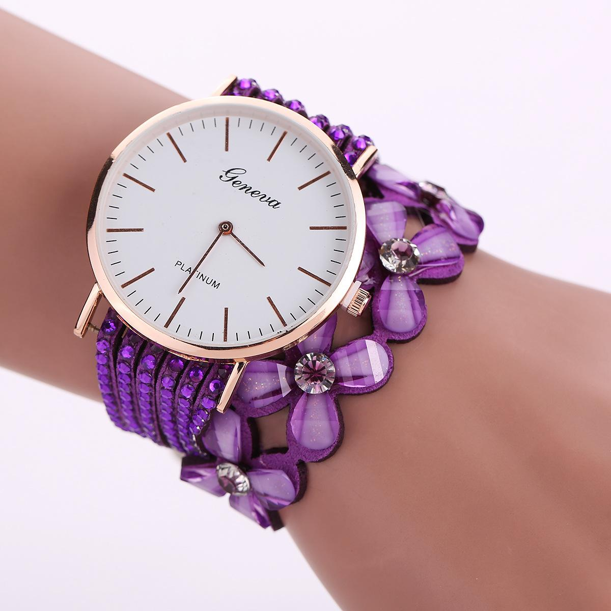 bb58d66ab01 Ladies Fashion Trends in Europe And America Rose Gold Alloy Bracelet Watch  Dial Diamond Watches Fashion Watch Flowers Watch The Timer Business Watch  Online ...