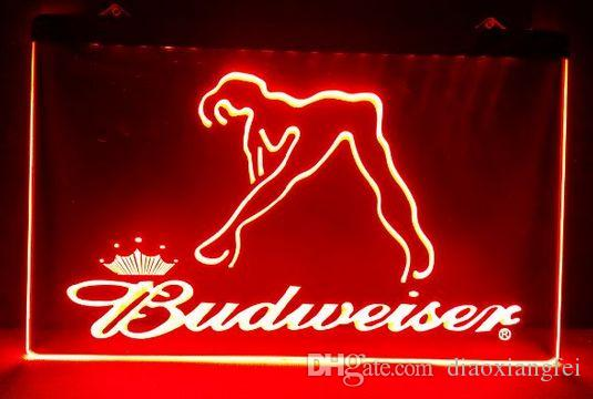 2019 B02 Budweiser Exotic Dancer Stripper Bar Pub Club 3d Signs Led Neon Light Sign Home Decor Crafts From Diaoxiangfei 1189