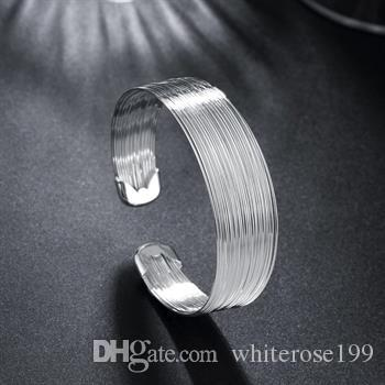Wholesale - Retail lowest price Christmas gift, new 925 silver fashion Bracelet B023