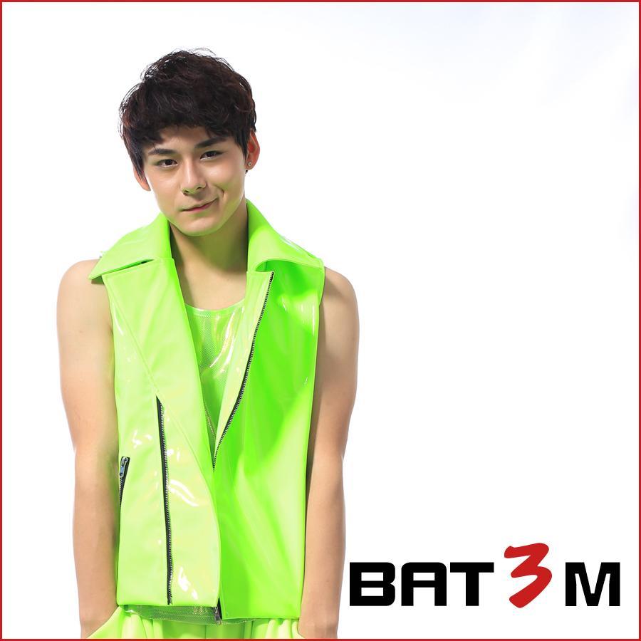 Erkekler kostüm yeşil yelek deri ceket şarkıcı dansçı parti balo Ds moda erkek giyim neon yeşil süper sıcak motosiklet kostüm