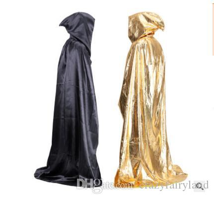 2018 halloween cloaks hood capes women men novelty black red adult halloween party cosplay costumes accessory coat shawl dhl from crazyfairyland