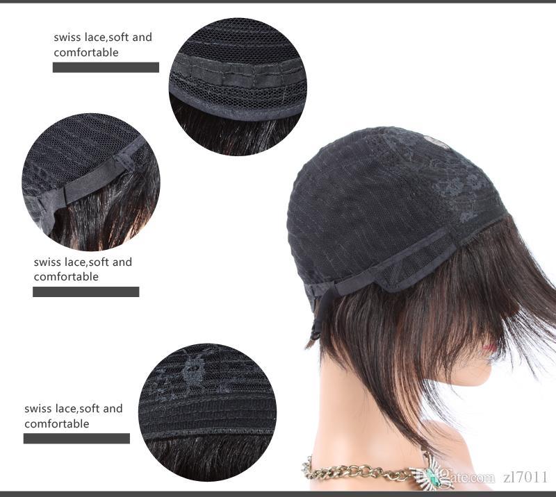 100% Human hair Brazilian Pixie Cut Short Curly wigs for Black women cheap full lace peruvian Human hair human hair wigs new wigs