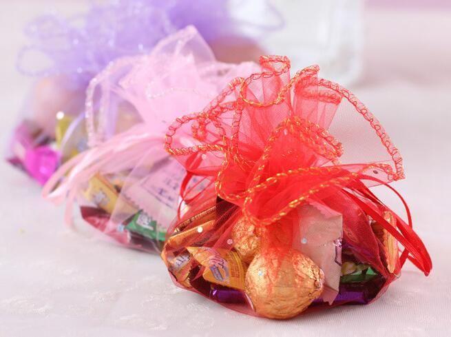Rote / Rosa-runde Form-Geschenk-Taschen mit Pailletten, die Bevorzugungs-Partei-Geschenk-Beutel 45cm Durchmesser neu sind