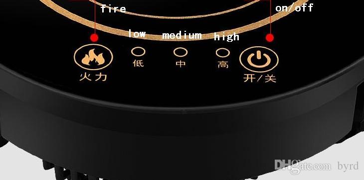 integrierte Desktop-Induktion runder heißen Topf tragbarer Induktionsherd Touch Mini-Elektroherd Haushalt kommerziellen Herd-Kochfeld 220V F-196D