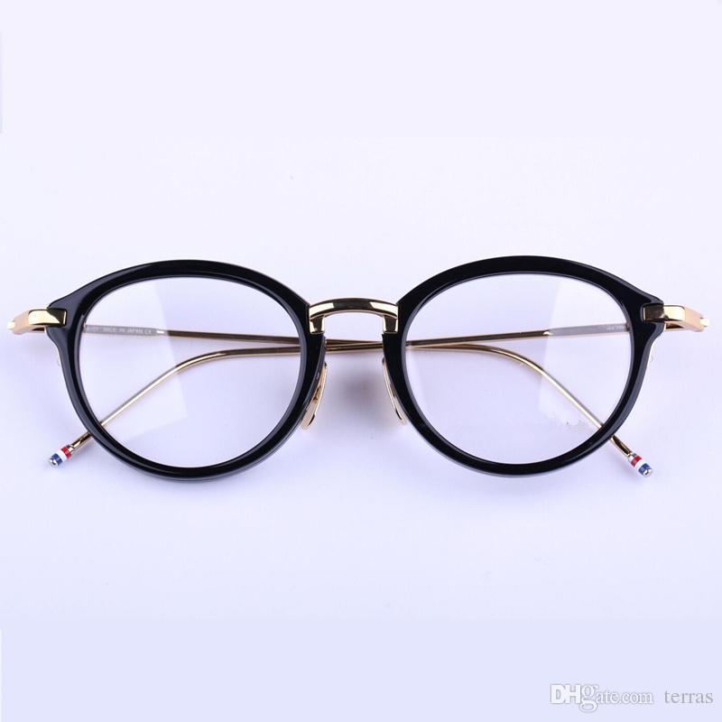 7d7ed56926 Compre Vintage TB011 Monturas Redondas Monturas De Gafas Unisex Gafas  Graduadas Para Mujeres Hombres Con Logo Y Estuche Original A $40.61 Del  Terras ...