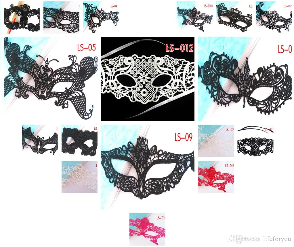 halloween costumes masquerade masks for women sexy lace face mask cosplay sexy costumes masquerade makeup party decoration gold and black masquerade mask - Halloween Costumes With A Masquerade Mask