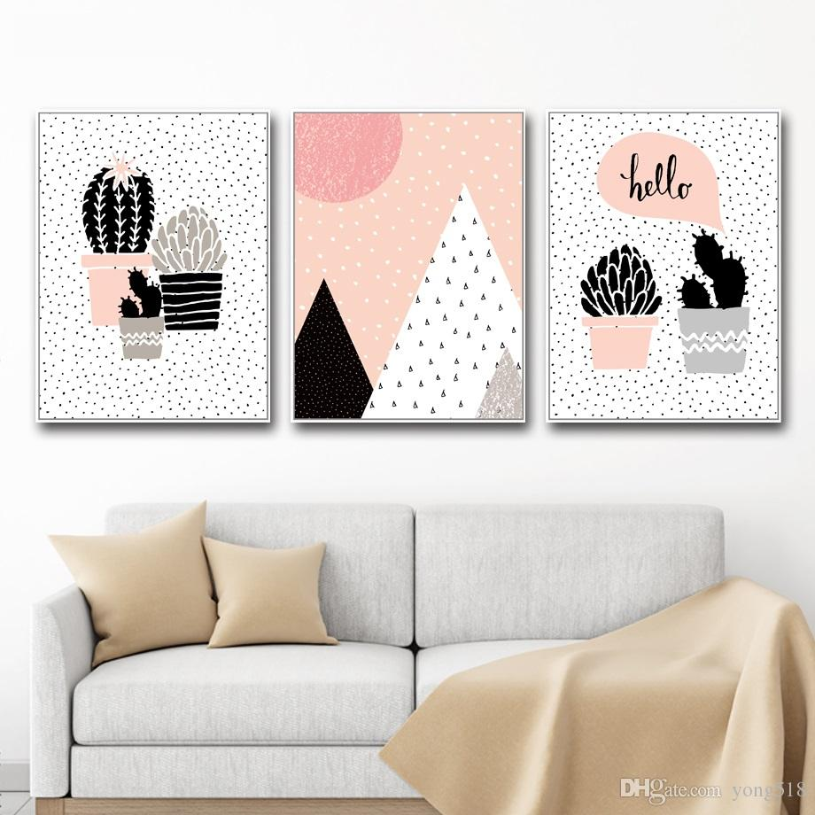 Cactus Wall Art 2017 canvas painting nordic cactus wall art painting canvas poster
