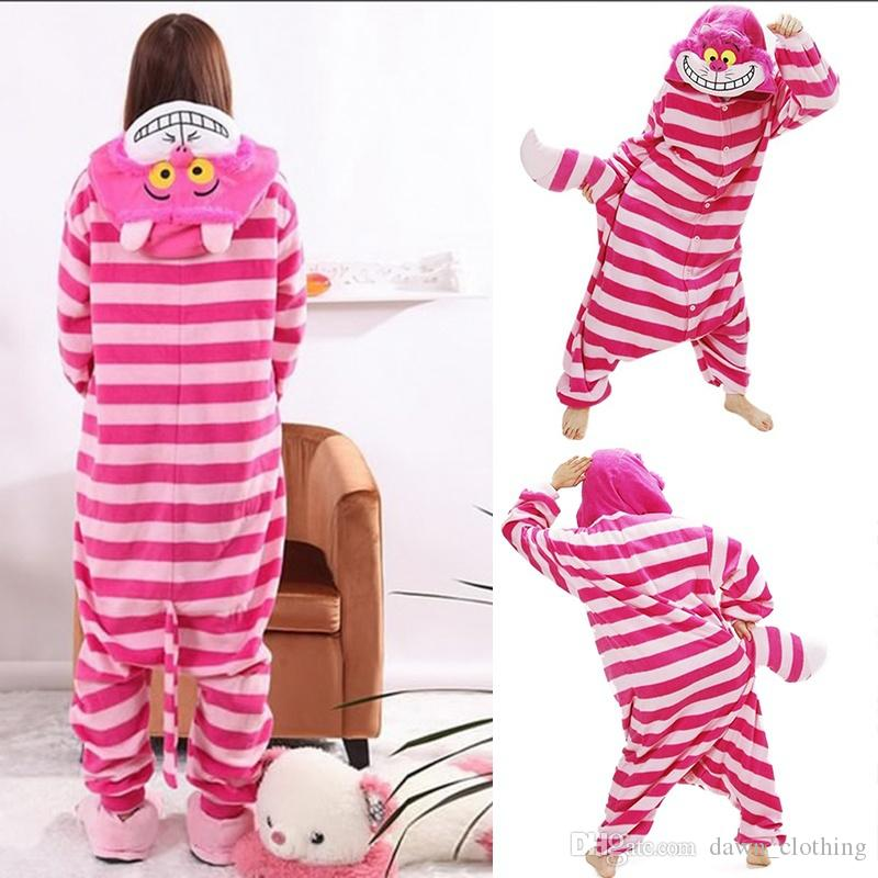 Children Pajamas One Piece Suit Cosplay Costume Garment Coral Fleece Stitch Cartoon Animal