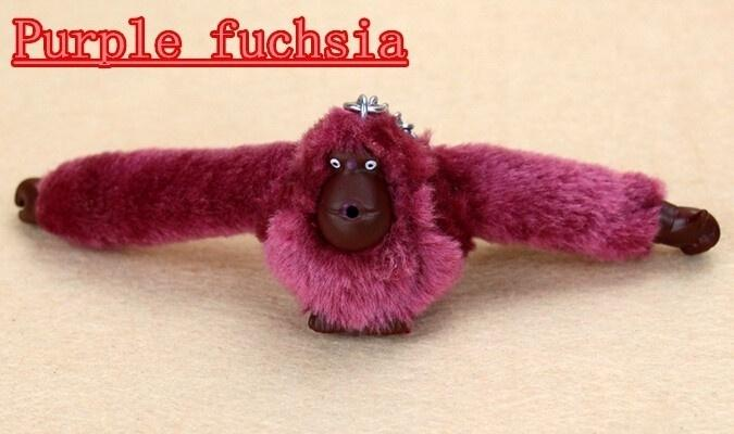 Hot Cute Keychain Monkey Pendant Key Holder Accessories Key Chain Orangutan Plush Toys for Bags Handbag Shoulder Messenger Bag Purse Pendant