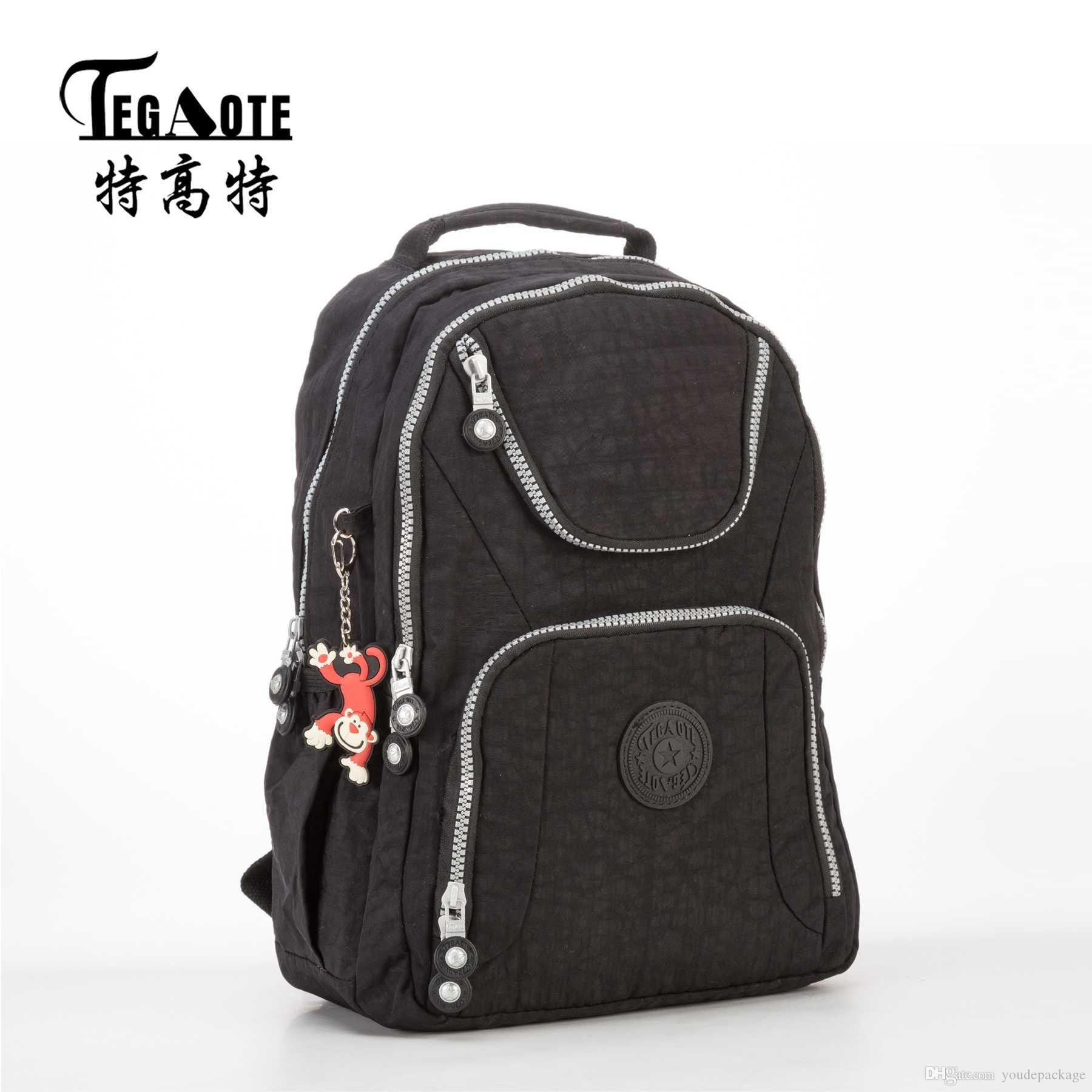 a3d66f8c64bf TEGAOTE 2017 Black Backpack Unisex Hombre Mochila Masculina Bookbag Nylon  Waterproof Male Bagpack Female Portatil Bag Sac A Dos Nylon Backpack  Classic Big ...
