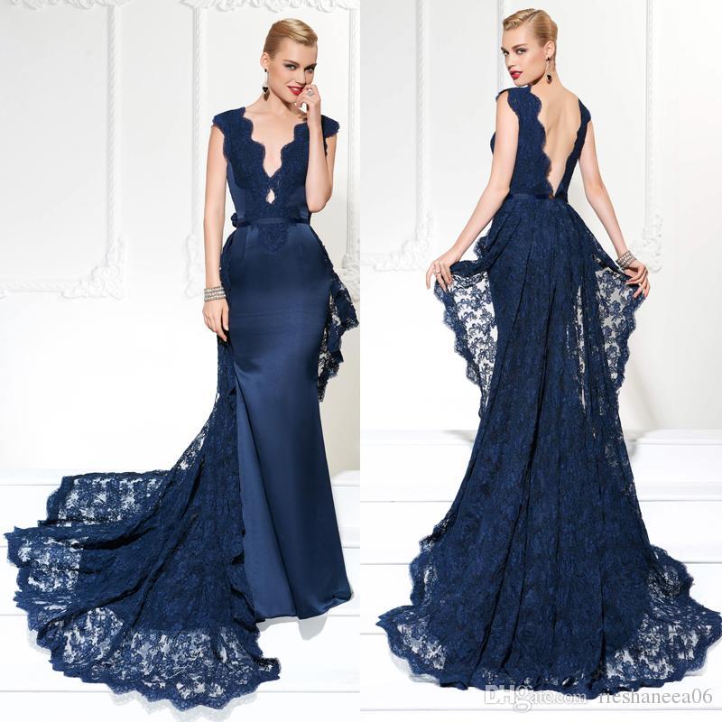 Azul vestidos de noche
