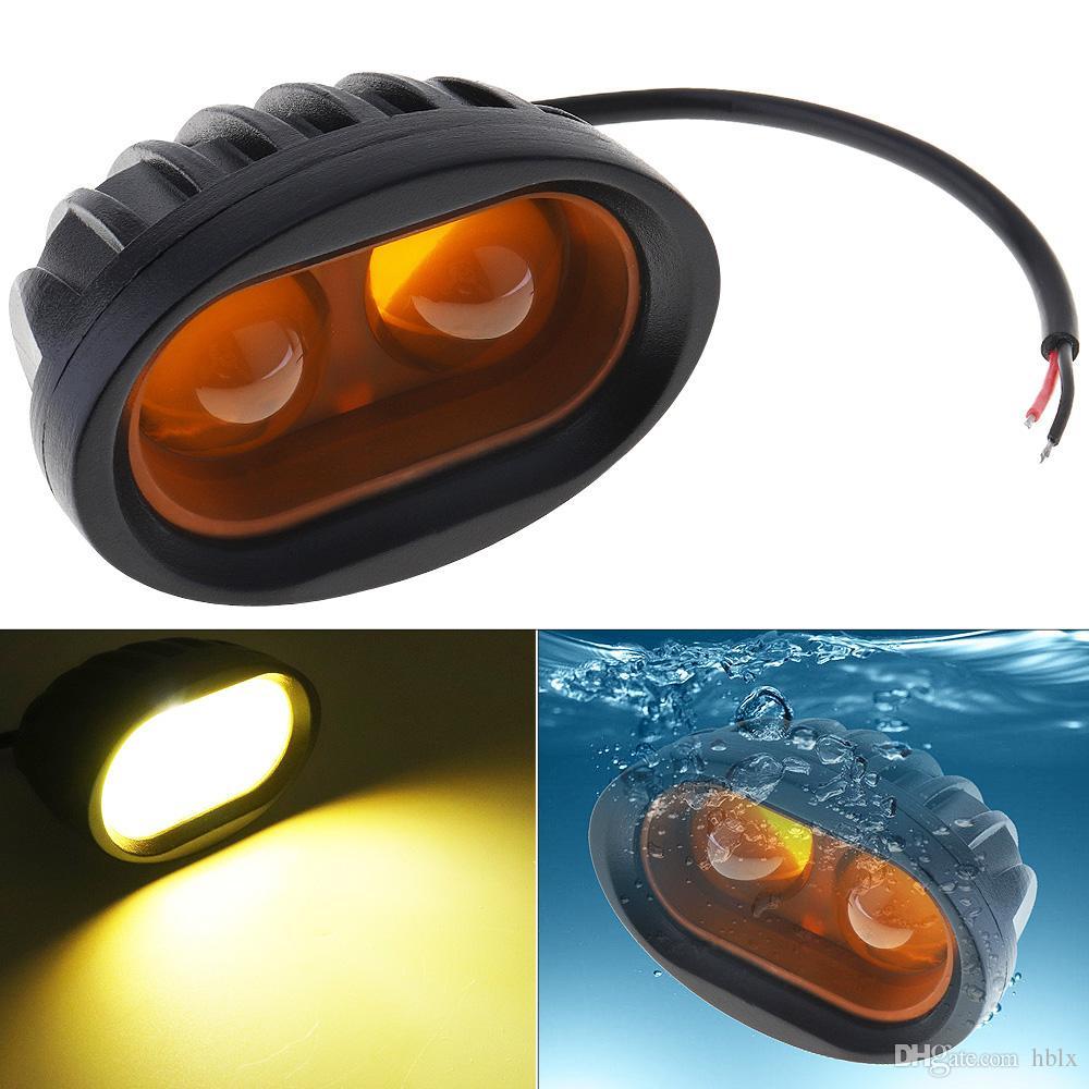 12 V 20 W 2000LM Off-road Motosiklet LED Çalışma Lambası 2x 4D Dışbükey Lens SUV / Motosiklet MOT_21E