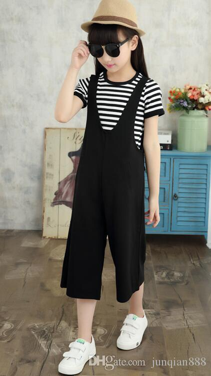 548ae14447c Hot Sale!2017 New In The Big Child Suit Fashion Girls Summer Wide ...