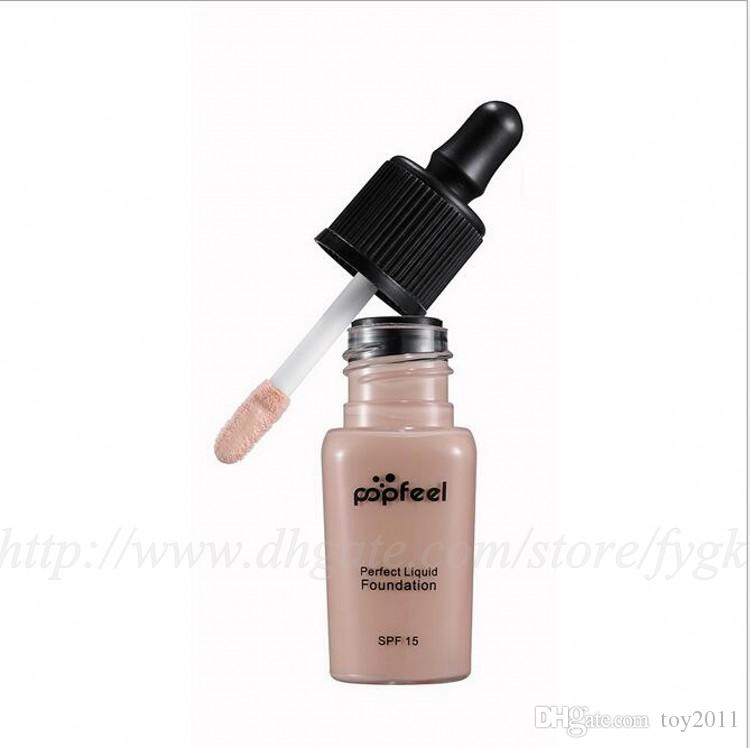 Discount price Popfeel Liquid Concealer Foundation Flawles Finish Foundation Popfeel Cosmetics Makeup Liquid Foundation DHL Free