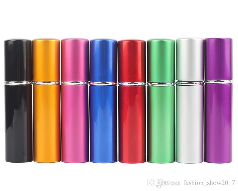 5ml Mini Vaporiser Bouteille de parfum Voyage Bouteille vide de Rechargeables parfum Conteneur cosmétique Atomiseur aluminium bouteilles rechargées