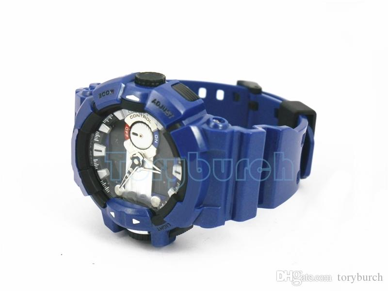высокое качество GBA Relogio 400 Нет функции Bluetooth мужские спортивные мужские часы хронограф все указатели работают с коробкой