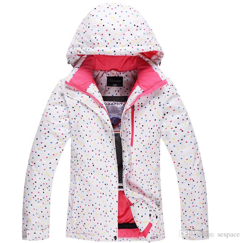 2019 Wholesale Cheap Ski Jacket White Dot Womens Snowboard Jacket 10K  Waterproof Windproof Winter Warm Girl Snow Suit Outdoor Skiing Clothes From  Sespace e2bffd607