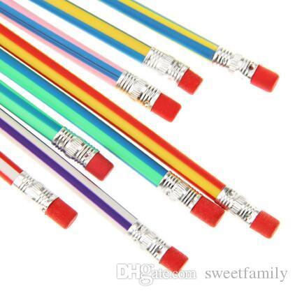 MAGIC Flexible Pencil Korea Cute Stationery Colorful Magic Bendy Flexible Soft Kids Students Pencil Gifts School Beginning