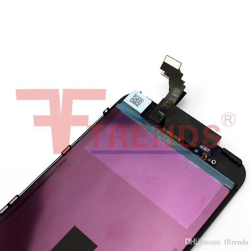 Alta qualità schermo LCD sostitutivo iPhone 6 Display touch Digitizer Assemblaggio completo Nero Bianco Cold Frame Press 100% Tested